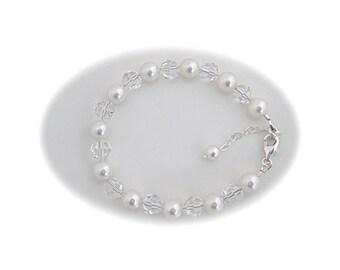 Wedding bridal Jewelry Pearl Bracelet Wedding Jewelry Bridesmaid Bracelet