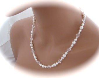 Pearl Wedding Jewelry Set Bridal Necklace and Earring set jewelry