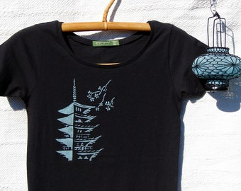 Japanese Temple Cotton Womens Tee