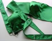 Green Satin Practice Poi