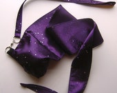 Purple Satin Practice Poi Sparkle Star