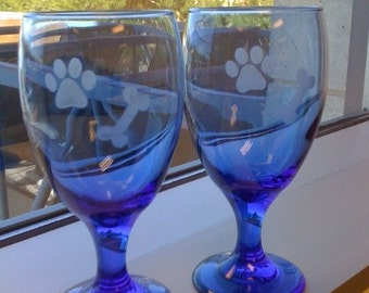 SALE! Etched Water Glasses Regularly 30 Dollars