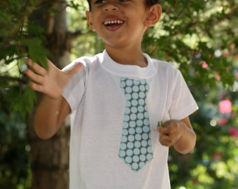 Boutique Appliqued Boys Tie t-shirt, sizes 1-10