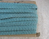 RESERVED for KathrynMcMeans Vintage Upholstery Cord Trim - Scroll Gimp - Blue - 16 yards