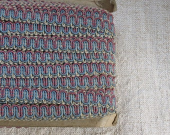 Vintage Upholstery Cord Trim - Scroll Gimp - Multi-Color - By the Yard