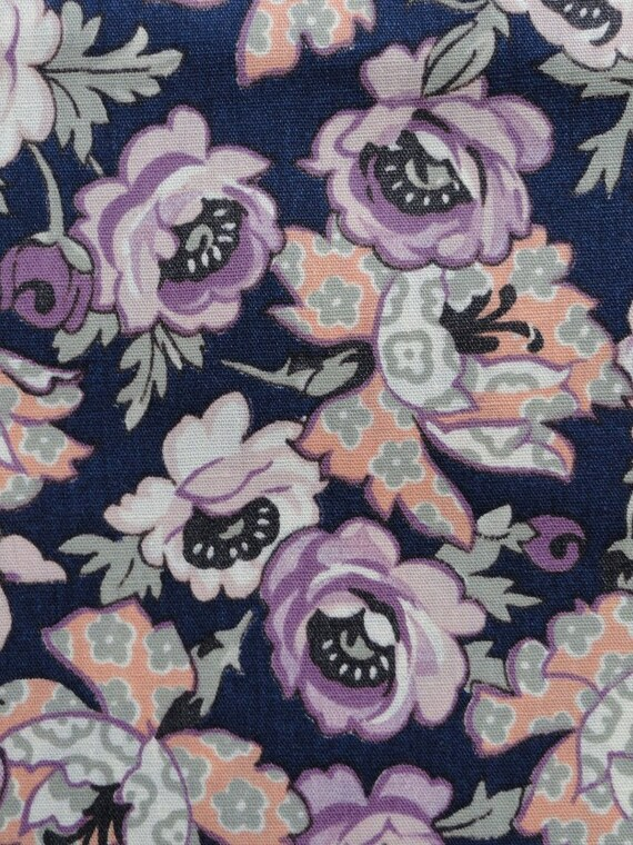 Vintage Roses Floral Cotton Print Fabric 2.9 yards