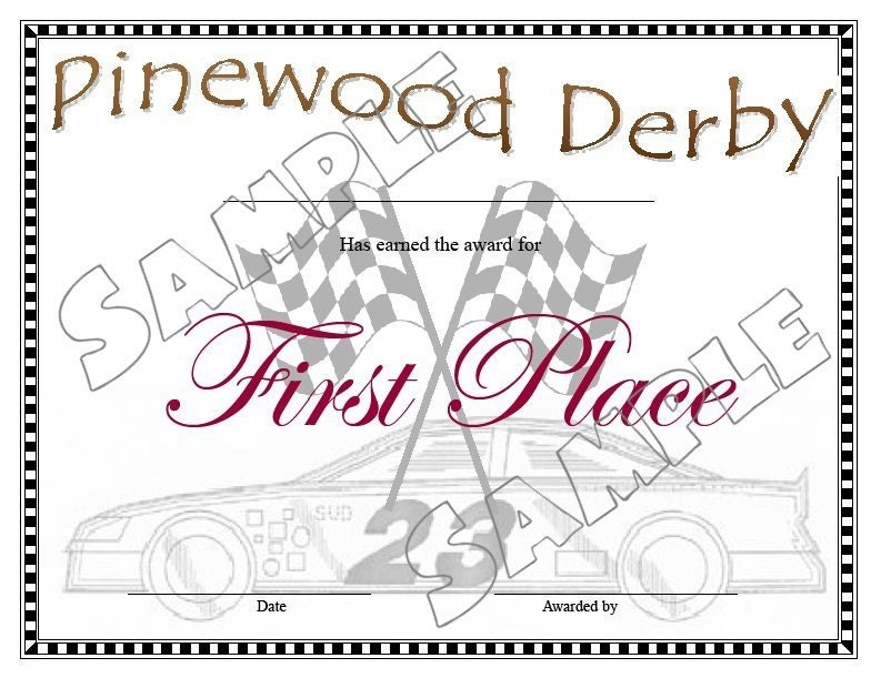 Pinewood derby certificates pdf file for Pinewood derby certificate pdf