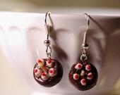 Portal Cake Dangle Earrings - Polymer Clay
