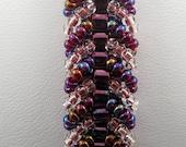 Ruby Red Crystal AB Bracelet - 7.5 inch