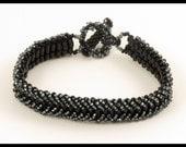 Black Diamond Woven Bracelet - 7.5 inches