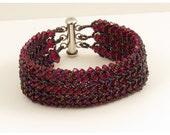 Swarovski Ruby Crystal Woven Bracelet - 6.75 inches