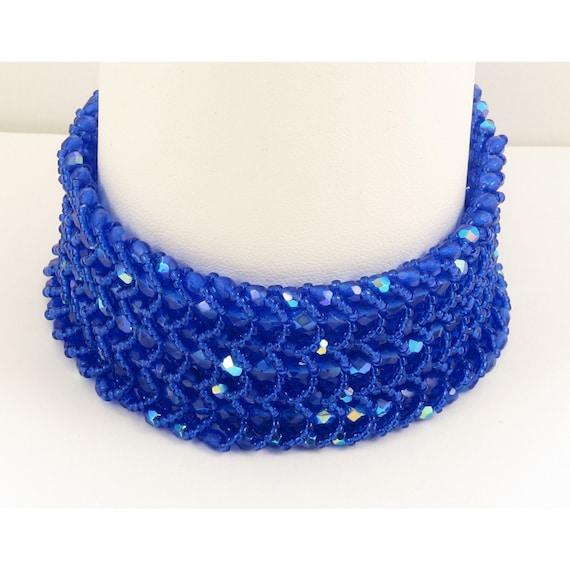 Light Cobalt Woven Three Strand Bracelet
