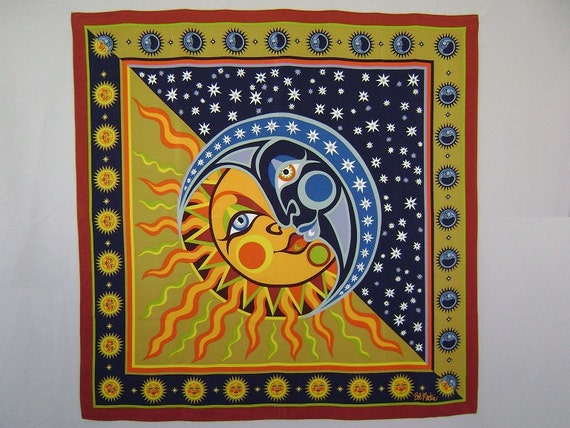 scarf silk scarf bob mackie scarf by iandrummondvintage
