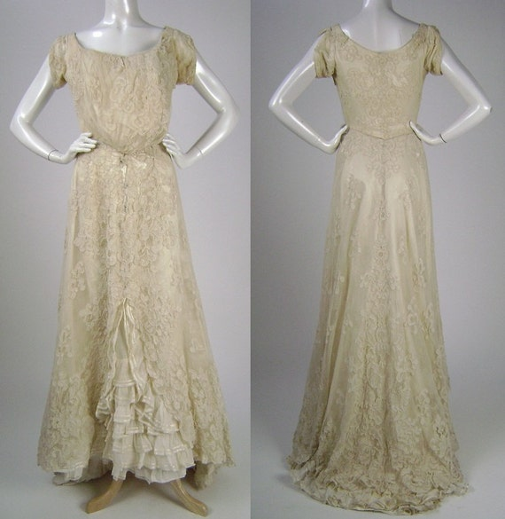 Victorian wedding dress wedding gown 2pc by for Victorian style wedding dress