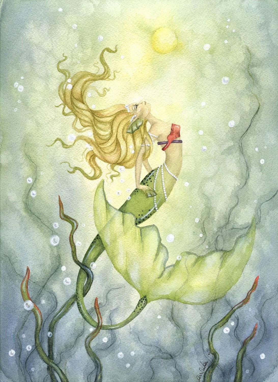 Under The Sea on Pinterest | Watercolor Mermaid, Mermaid ...