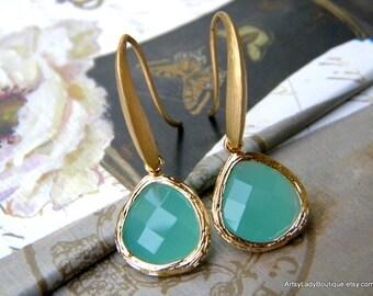 Sea Foam Earrings - Matte Gold