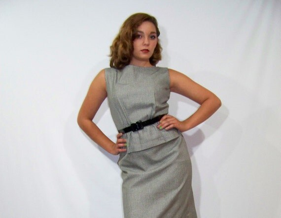 RESERVED Please Do Not Buy 50s 60s Dress Wiggle Pencil Skirt Small S LANZ Houndstooth Vintage 1950s 1960s