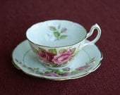 Pink Rose Tea Cup - Royal Stuart Spencer Stevenson Bone China, England