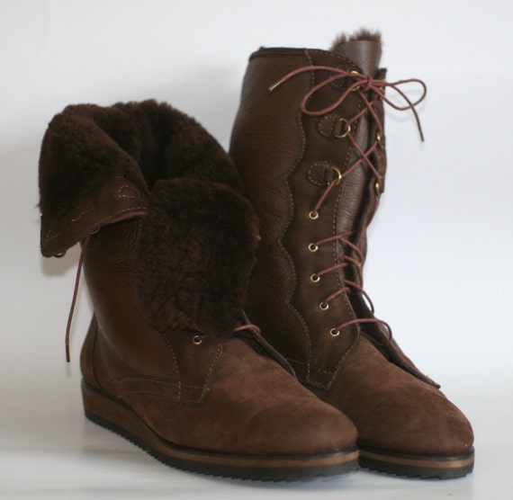 Napoleoni Italian Leather Designer Boots 1970 S Vintage