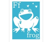 Children's Wall Art / Nursery Decor F is for Frog 8x10 inch print by Finny and Zook