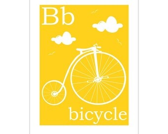 B is for Bicycle 8x10 inch print by Finny and Zook