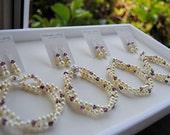 Bridesmaids Bracelet and Earring Set