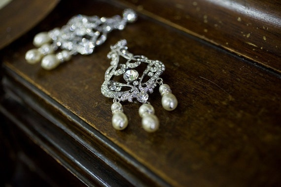 CLEARANCE - Bridal Chandelier Earrings made with Swarovski Crystals