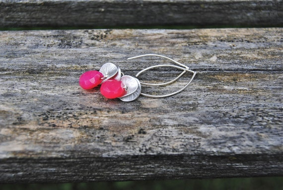 Pink and Petals Drop Earrings