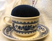PINCUSHION vintage tea cup