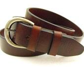 35mm Genuine leather belt Sunset Made in USA men women 1 3/8