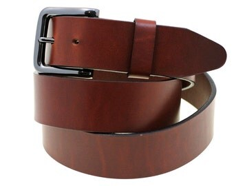 Hand Crafted Made In USA 40mm Tan Oil Tanned Latigo Leather Belt With Black Nickel Buckle