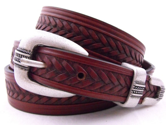 tapered leather dress belt american made by