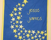 CUSTOM Flannel Applique Stars and Moon Quilt
