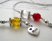 Personalized Bookmark FOR MOM - Birthstone Beaded Book Thong with a Birthstone Bead for EACH child