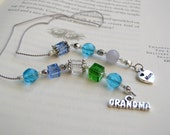 BIRTHSTONE BOOKMARK for Grandma - Beaded Book Thong Keepsake with a Bead Color to Represent Each Child and Grandchild