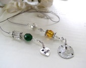 FOR MOM - Birthstone Beaded Bookmark for Mothers Day - Personalized Book Thong with a Birthstone Bead for EACH child