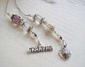 Birthstone Beaded Bookmark Book Thong FOR Grandma- Personalized with a Birthstone Bead for EACH grandchild