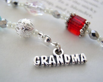 Grandmother Mother's Day Gift - Beaded Bookmark - WE'RE EXPECTING - You Are Going to Be a Grandma Beaded Bookmark Book Thong