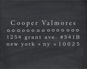 Custom Eco Mount Address Stamp - Subway 1025