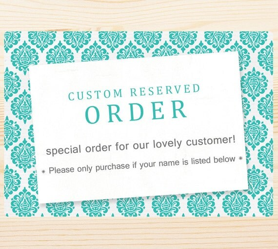 Custom Reserved Listing for -  Lola - Multiple stamp order.