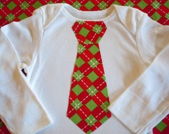 Tie Onesie Red and Green