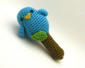 Blue Birdy Rattle