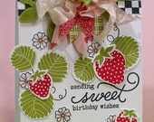 Sweet Birthday Wishes - Shabby Chic Hand Stamped Card