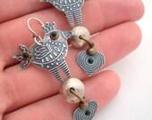 On Hold for Sidika Vintage Cool Tone Bird Earrings