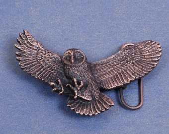Owl Belt Buckle - Owl Buckle - Copper