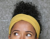 Mustard Yellow Turban  Headband (sale, clearance)