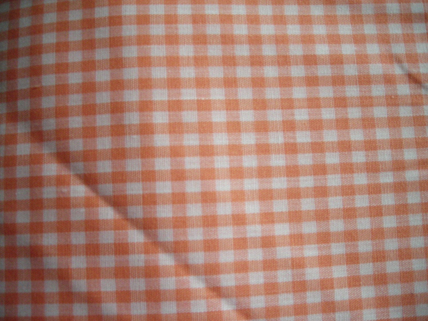 Orange gingham fabric for Gingham fabric