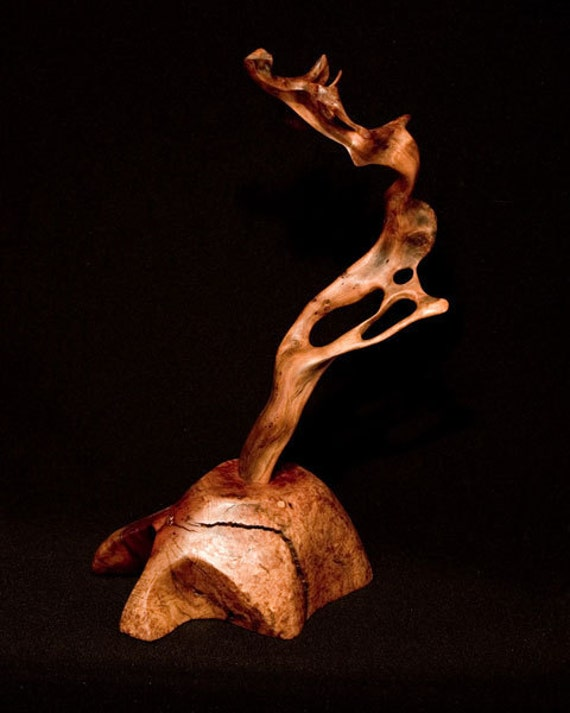 Wood Sculpture of Redwood and Manzanita.  Free Shipping in U.S. and Canada.