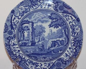 Blue Spode Plate