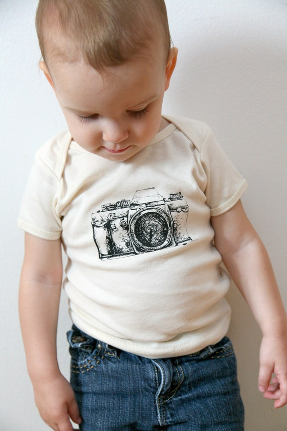 reserved for Renee . organic CAMERA tee . by Lund Studios
